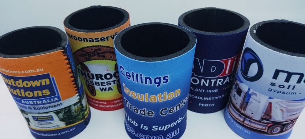 Full colour stubby holders made in Perth WA